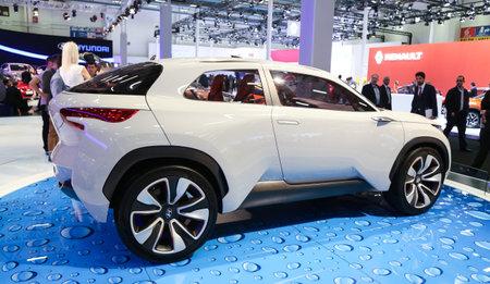 autoshow: ISTANBUL, TURKEY - MAY 21, 2015: Hyundai Intrado concept in Istanbul Autoshow 2015 Editorial