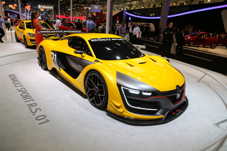 sportscar: ISTANBUL, TURKEY - MAY 21, 2015: Renault Sport RS1 in Istanbul Autoshow 2015 Editorial