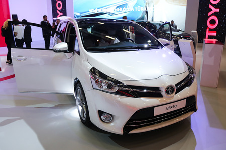 ISTANBUL, TURKEY - MAY 21, 2015: Toyota Verso in Istanbul Autoshow 2015 Editorial