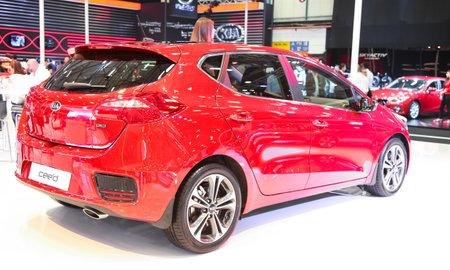 autoshow: ISTANBUL, TURKEY - MAY 21, 2015: Kia Ceed in Istanbul Autoshow 2015