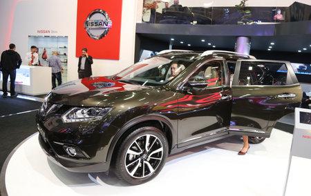 autoshow: ISTANBUL, TURKEY - MAY 21, 2015: Nissan X-Trail in Istanbul Autoshow 2015