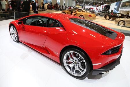 autoshow: ISTANBUL, TURKEY - MAY 30, 2015: Lamborghini Huracan LP 610-4 in Istanbul Autoshow 2015 Editorial