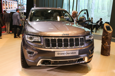 autoshow: ISTANBUL, TURKEY - MAY 21, 2015: Jeep Grand Cherokee in Istanbul Autoshow 2015 Editorial