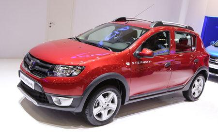 autoshow: ISTANBUL, TURKEY - MAY 21, 2015: Dacia Sandero Stepway in Istanbul Autoshow 2015