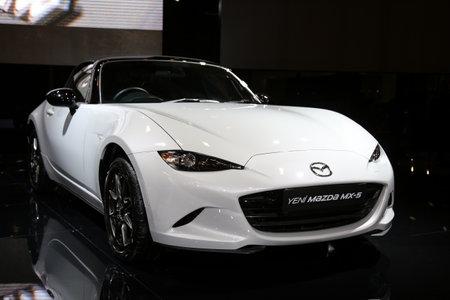autoshow: ISTANBUL, TURKEY - MAY 21, 2015: Mazda MX-5 in Istanbul Autoshow 2015 Editorial
