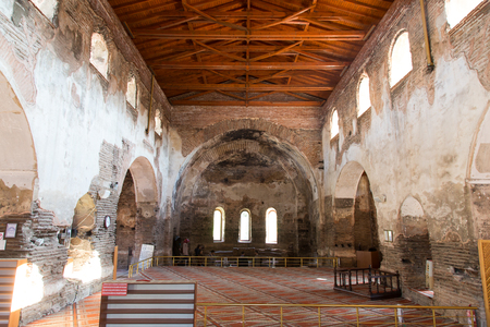 justinian: ISTANBUL, TURKEY - NOVEMBER 08, 2014: Inside of Hagia Sophia museum in Iznik. Hagia Sophia was built by Justinian I in the 6th century and Second Council of Nicaea met in 787.