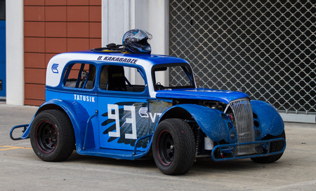legends: ISTANBUL, TURKEY - NOVEMBER 02, 2014: A legends car in pit lane in Istanbul Park Circuit Editorial