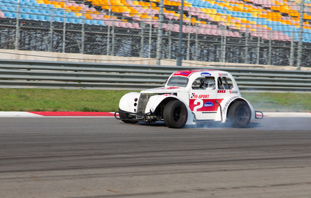 legends: ISTANBUL, TURKEY - NOVEMBER 02, 2014: A Legends Car in Istanbul Park Circuit during Turkish Touring Car Championship