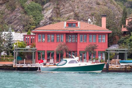 strait: Building in Bosphorus Strait, Istanbul City, Turkey