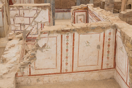 residental: Drawings in Terrace Houses, Ephesus Ancient City in Izmir, Turkey