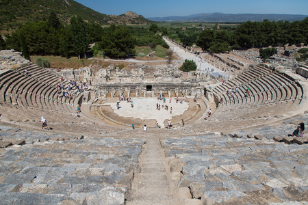 Grand Theater of Ephesus Ancient City in Izmir, Turkey