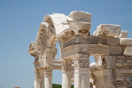 hadrian: Temple of Hadrian in Ephesus Ancient City in Izmir, Turkey