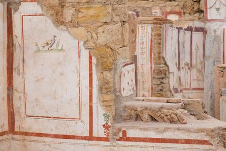 figurative: Drawings in Terrace Houses, Ephesus Ancient City in Izmir, Turkey