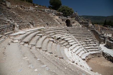 teatro antiguo: Theater of Ephesus Ancient City in Izmir, Turkey Foto de archivo