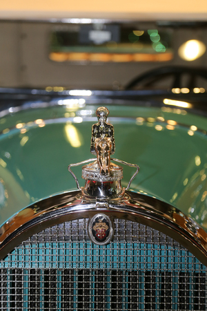 antique car: ISTANBUL, TURKEY - SEPTEMBER 12, 2015: An Antique car in Used Cars For Sale Fair in CNX Expo Editorial