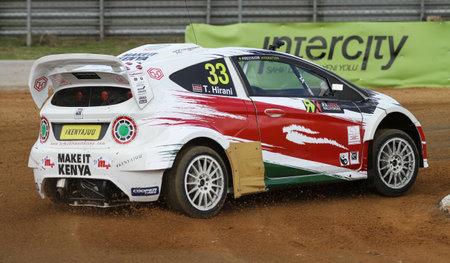 fia: ISTANBUL, TURKEY - OCTOBER 03, 2015: Tejas Hirani drives RXLites car of Toksport WRT Team in FIA World Rallycross Championship. Editorial
