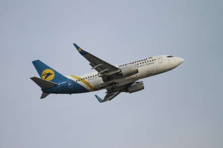 Ukraine International Airlines takes off from Istanbul Ataturk International Airport