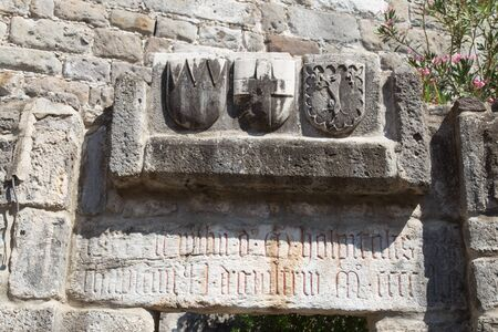 mugla: Knight Symbols in Bodrum Castle, Mugla, Turkey