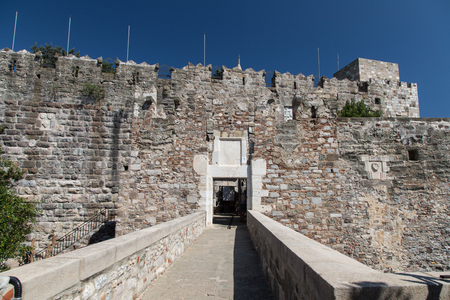 mugla: Gate of Bodrum Castle in Mugla City, Turkey