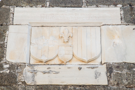 mugla: Knight Symbols in Bodrum Castle, Mugla, Turkey