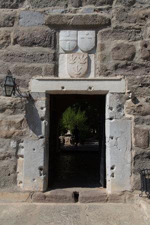mugla: Gate of Bodrum Castle in Mugla City, Turkey