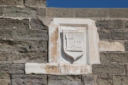 mugla: Knight Symbol in Bodrum Castle, Mugla, Turkey