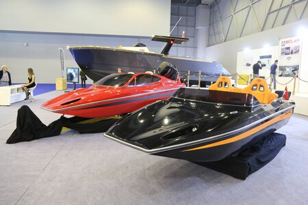 eurasia: ISTANBUL, TURKEY - FEBRUARY 13, 2016: Esline boats on display at 9th CNR Eurasia Boat Show in CNR Expo Center