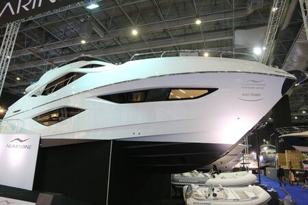 eurasia: ISTANBUL, TURKEY - FEBRUARY 13, 2016: Numarine 60 Fly on display at 9th CNR Eurasia Boat Show in CNR Expo Center Editorial