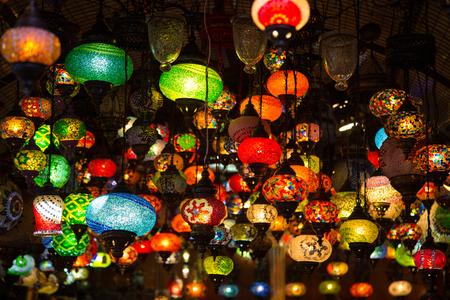 laterns: Turkish Laterns in Eminonu Spice Bazaar, Istanbul, Turkey