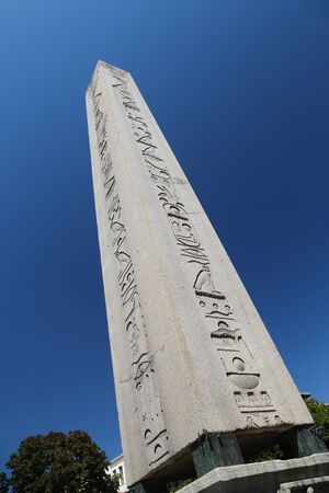 constantinople ancient: Obelisk of Theodosius in Istanbul City, Turkey Stock Photo