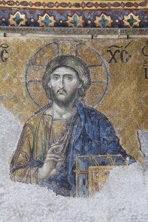 hagia sophia: The Deesis mosaic in Hagia Sophia Museum, Istanbul, Turkey
