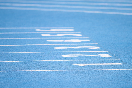 meters: Numbers at finish line of 60 meters running field