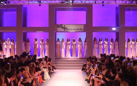 ISTANBUL, TURKEY - MARCH 01, 2016: Models after ADL Cengiz Abazoglu Catwalk