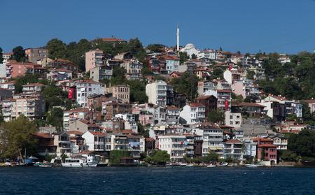 strait: Buildings in Bosphorus Strait, Istanbul City, Turkey