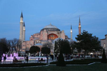 hagia sophia: Hagia Sophia museum in Istanbul City, Turkey