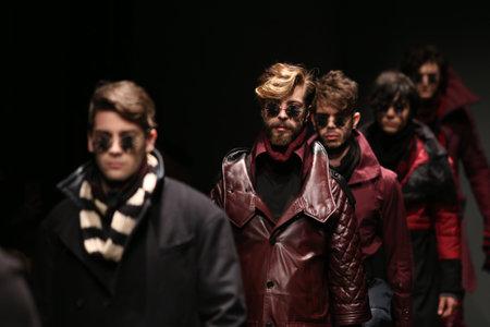 fashion week: ISTANBUL, TURKEY - MARCH 16, 2016: Models showcase the latest creations of Safak Tokur Catwalk in Mercedes-Benz Fashion Week Istanbul
