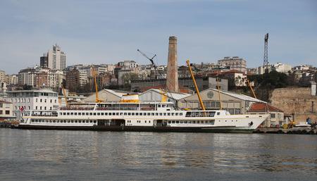 shipyard: A Ferry Waiting in Shipyard to Repare Stock Photo