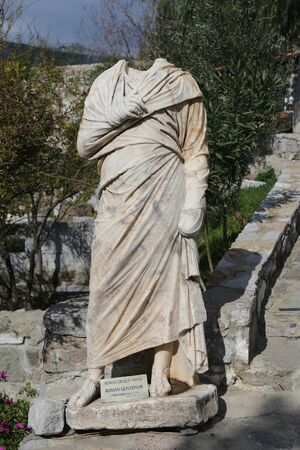 escultura romana: Escultura gobernador romano en el castillo de Bodrum, Mugla, Turqu�a