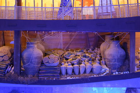 submerge: Recreation of a lagan in Bodrum Castle Museum, Turkey
