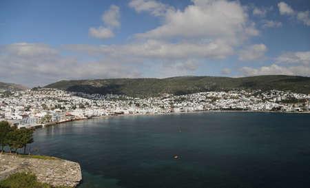 mugla: Bodrum Town in Aegean Coast of Mugla City, Turkey