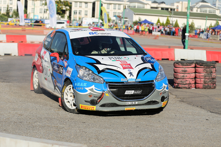 motorsport: KOCAELI, TURKEY - JUNE 11, 2016: Daghan Unludogan drives Peugeot 208 R2 of BC Vision Motorsport Team in Kocaeli Rally
