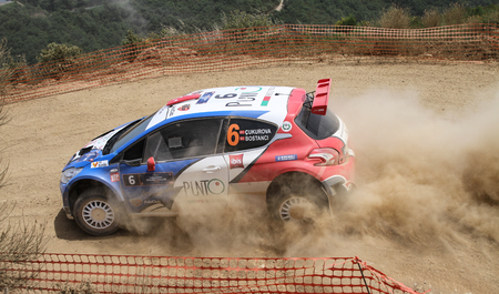 motorsport: KOCAELI, TURKEY - JUNE 12, 2016: Burak Cukurova drives Peugeot 208 T16 R5 of BC Vision Motorsport Team in Kocaeli Rally