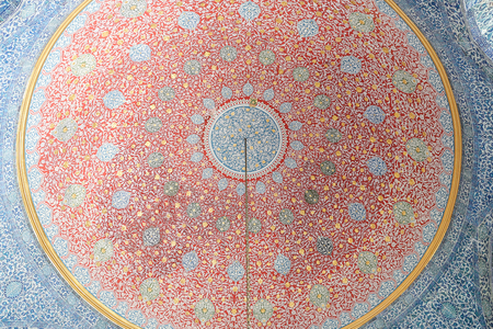 Dome of a Room in Topkapi Palace, Istanbul, Turkey Editorial