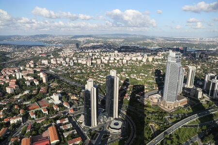 tower block: Aerial view of Istanbul City in Turkey