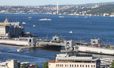 strait: Golden Horn and Bosphorus Strait in Istanbul City, Turkey