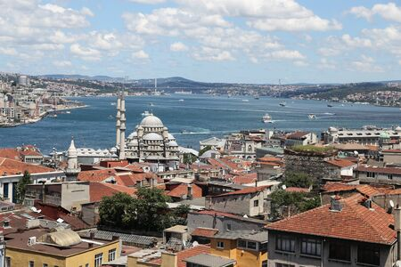 strait: Bosphorus Strait and Istanbul City in Turkey
