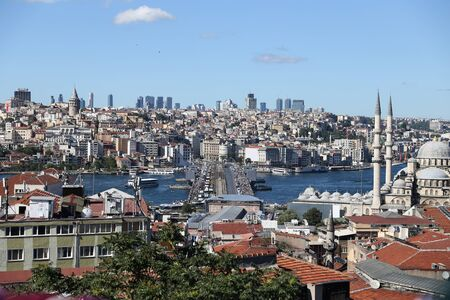 eminonu: Eminonu and Karakoy District in Istanbul City, Turkey