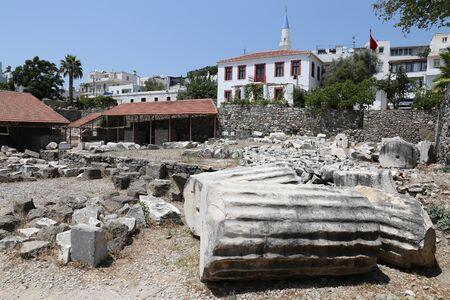 mausoleum: Mausoleum at Halicarnassus in Bodrum Town, Turkey Stock Photo