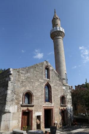 mugla: Bodrum Castle Mosque in Mugla City, Turkey Editorial