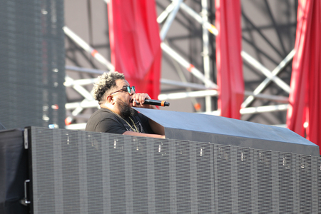 carnage: ISTANBUL, TURKEY - AUGUST 06, 2016: DJ Carnage on stage during Life in Color the Big Bang tour in Istanbul Life Park